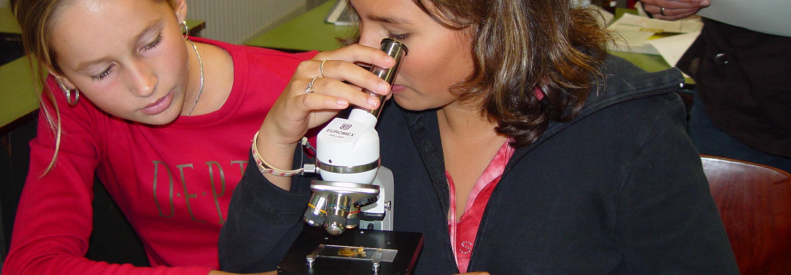 Digitale microscoop onderwijs